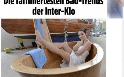 Holzbadewanne in Bild Online und Facebook